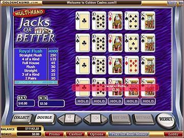 Play Jacks or Better Multihand Video Poker at Casino.com New Zealand